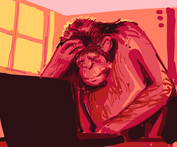 Ape writing a letter