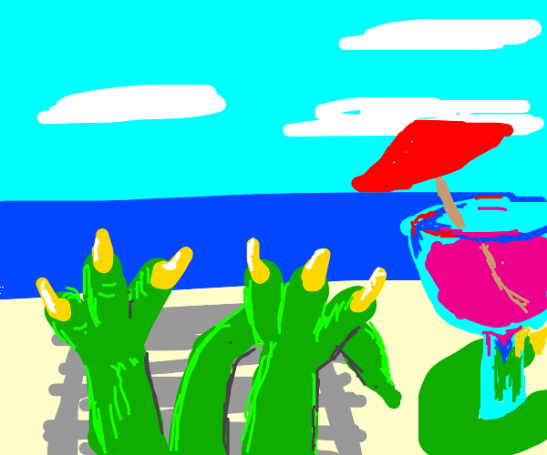 Dinosaur on vacation