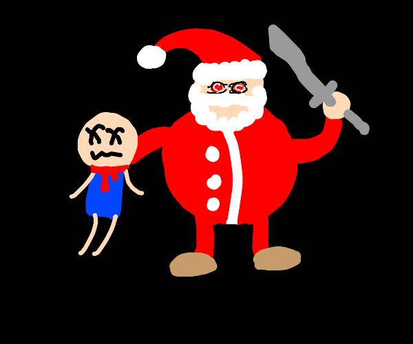 santa murders a child