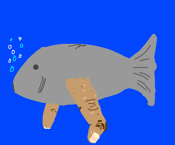 fish but with fingers