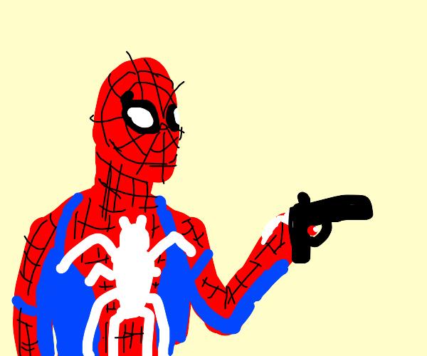 superhero with a gun