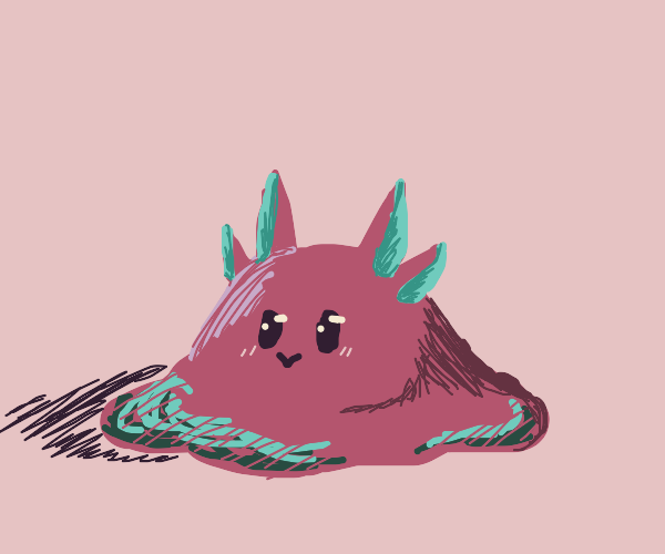 pink blob with face and 4 ears