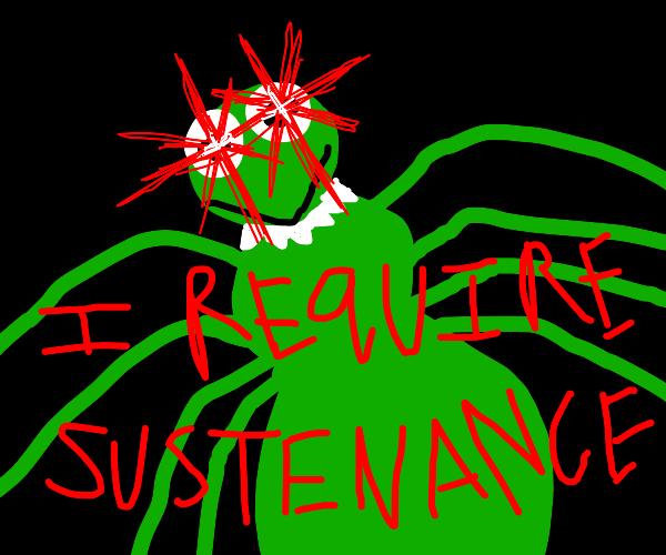 kermit the spider MUST CONSUME