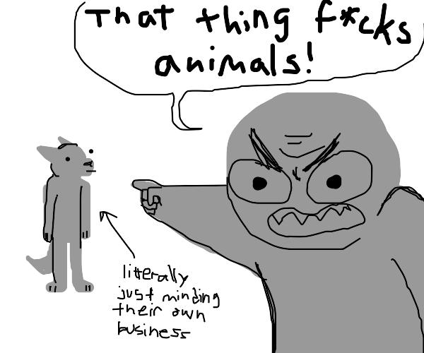 Accusing a furry