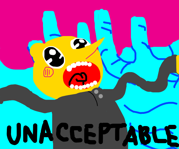 kawaii lemongrab says that is unacceptable