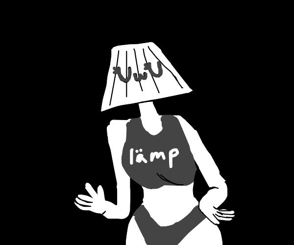 cute girl and lamp senpai UwU