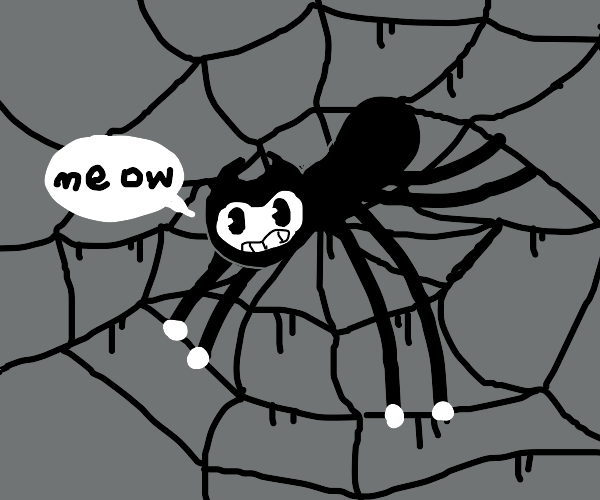 """Spider bendy says """"meow."""""""