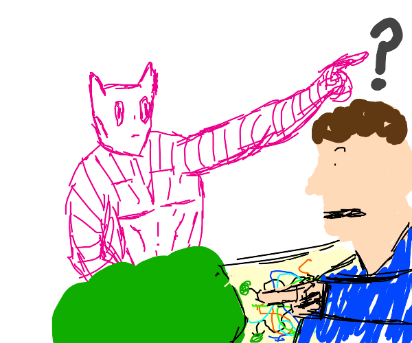 Naked Killer Queen gives man directions