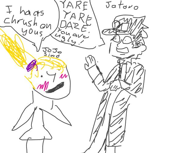 jojo siwa has crush on jotaro kujo,he doesn't