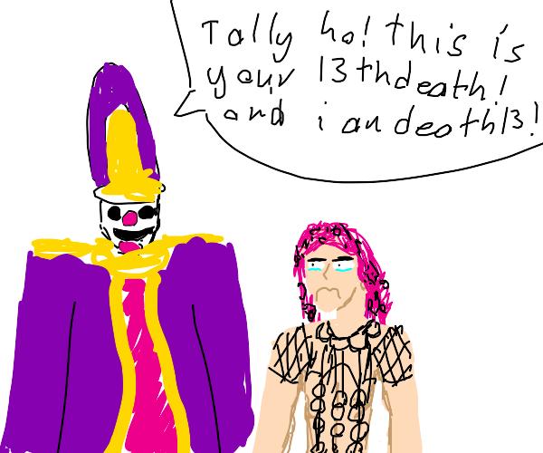 Death Thirteen in Diavolo's 13th death