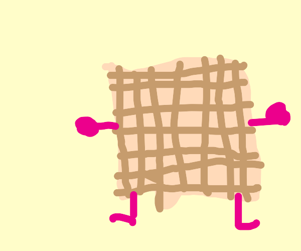 Chex with pink legs and arms