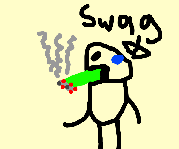 Sans smokes celery and thinks it's swag