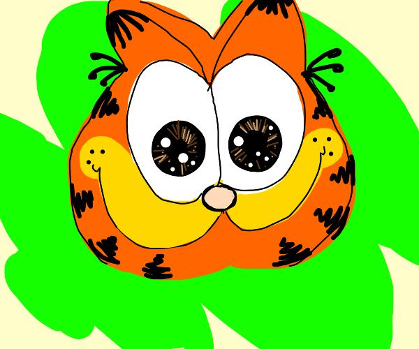 Garfield with big eyes