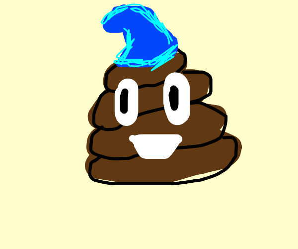 Poop emoji with a gnome hat