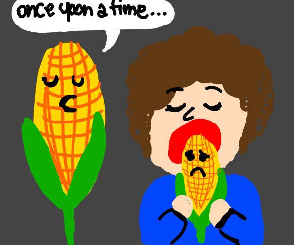 Corn tells story as other corn is eaten