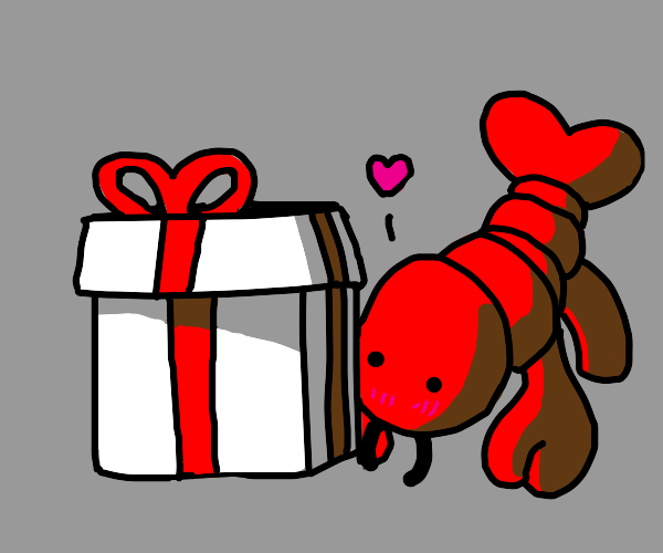 lobster bringing gifts