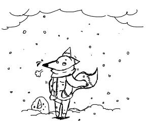 A fox in a jacket