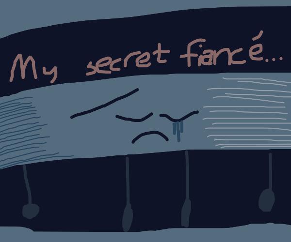 Gray stripe crying about his secret fiancé