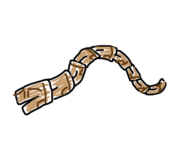 snake made of pants(a khakicobra if you will)