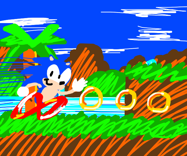Sonic doing what he does best