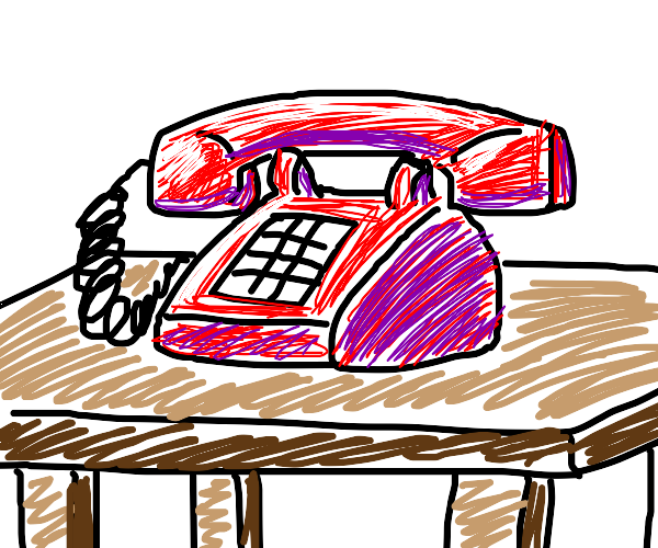 phone on a table