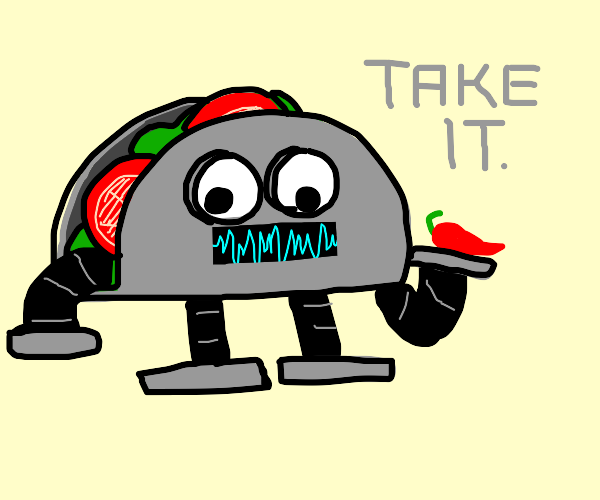 Robot taco delivers you hot food