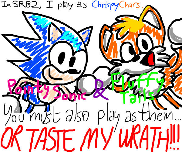 Point sonic and fluffy tails propaganda-