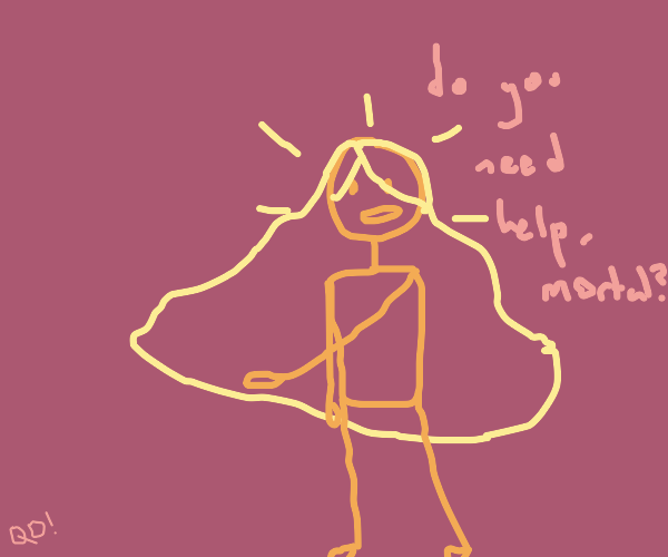 Omnipotent gold lady offers to help you