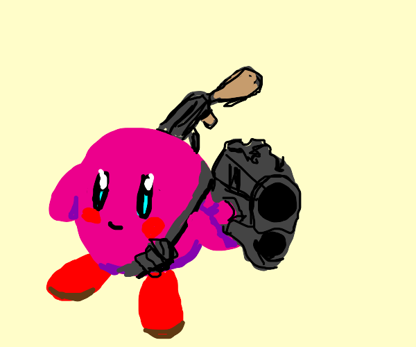 Kirby with guns