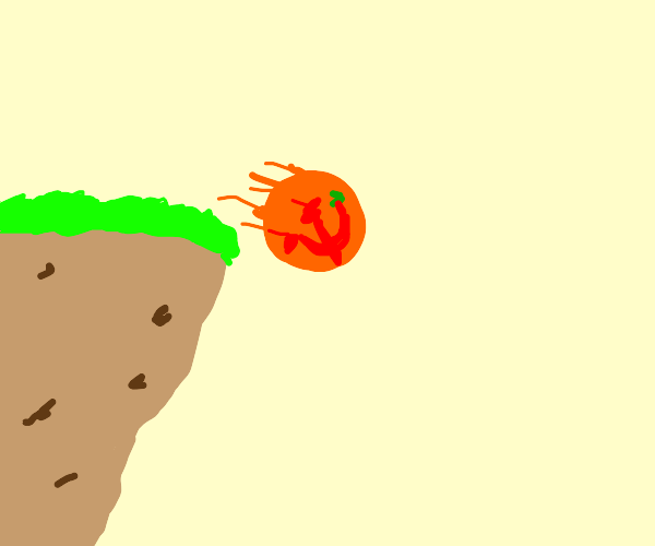 Soviet orange plummets off a cliff