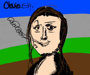 Monalisa on crack obviously