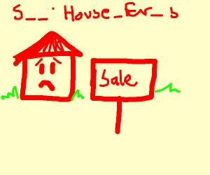 Sad house for sale