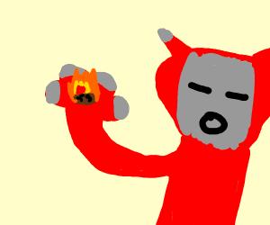antman eating fiery raisin