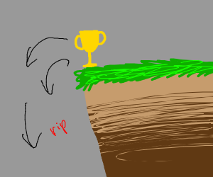 Trophy falls of cliff and dies