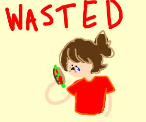 WASTED girl eats subway