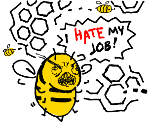 Bee hates his pollen collecting job