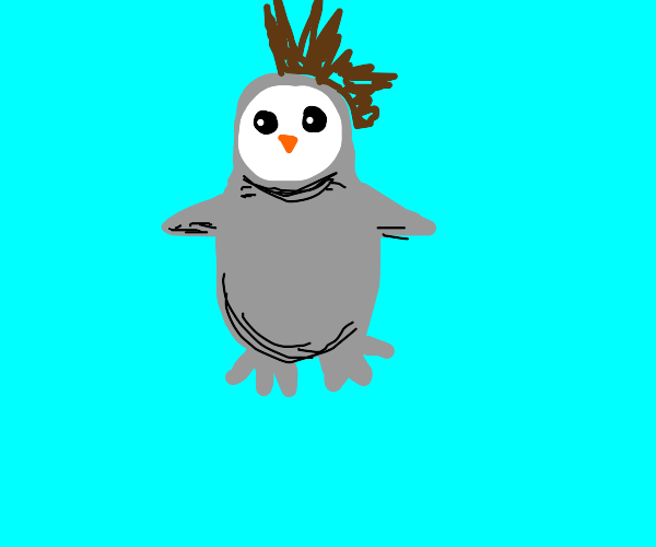 penguin with a mohawk