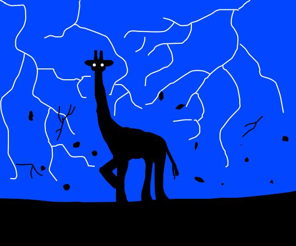 Giraffe struck by lightning becomes Superhero
