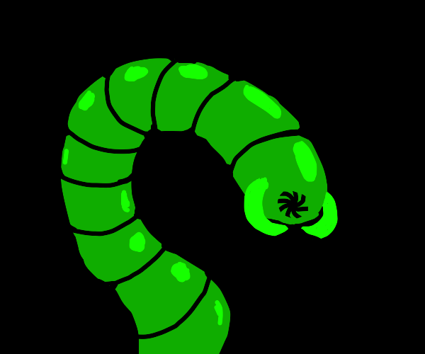 irradiated worm