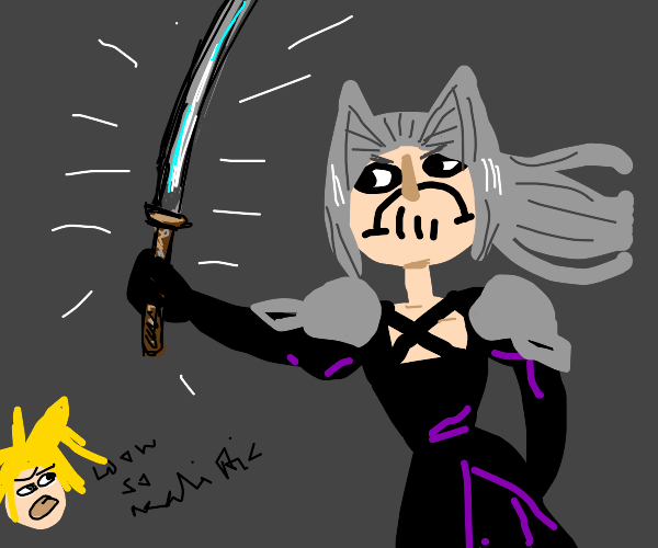 Sephiroth with a realistic sword