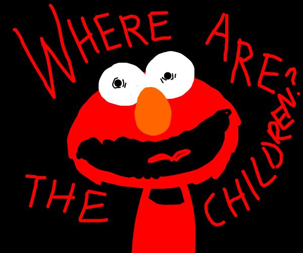 Elmo screaming