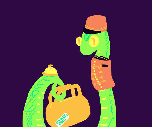 An intelligent snake as a bellhop