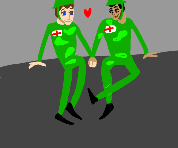 2 english soldiers in love
