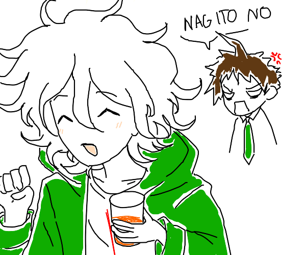 nagito steals hajime's orange juice