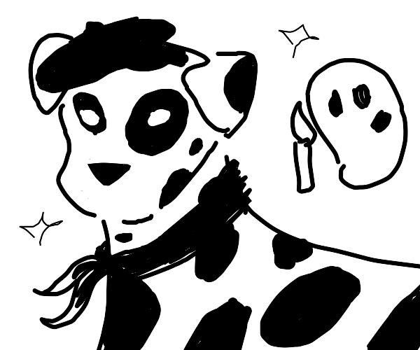 Very artistic Dalmatian dog