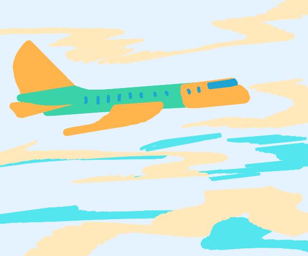 Green and orange plane