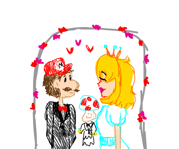 Mario and Peach Wedding
