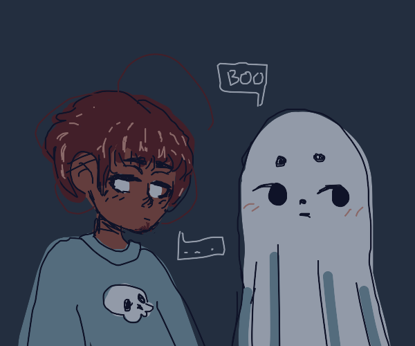 Ghost and boy