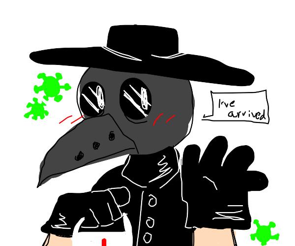 the plague doctor arrives