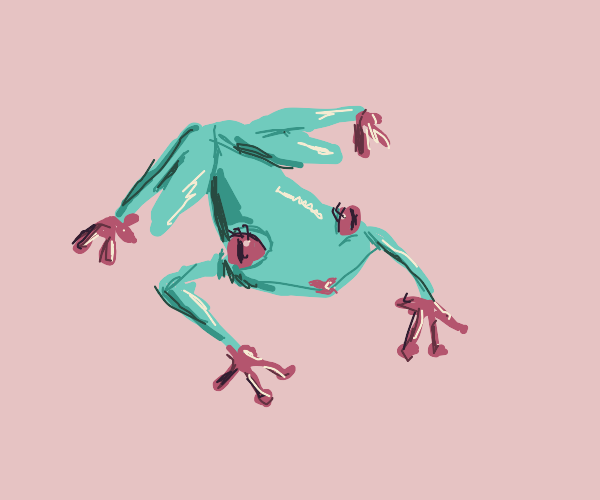froggo put on lipstick and eyeliner